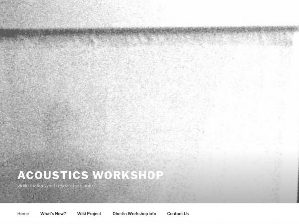 acousticsworkshop.com